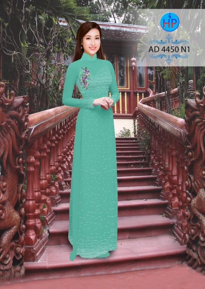 Vải áo dài bi xinh AD44504