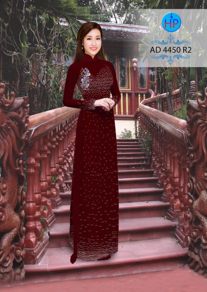 Vải áo dài bi xinh AD44505