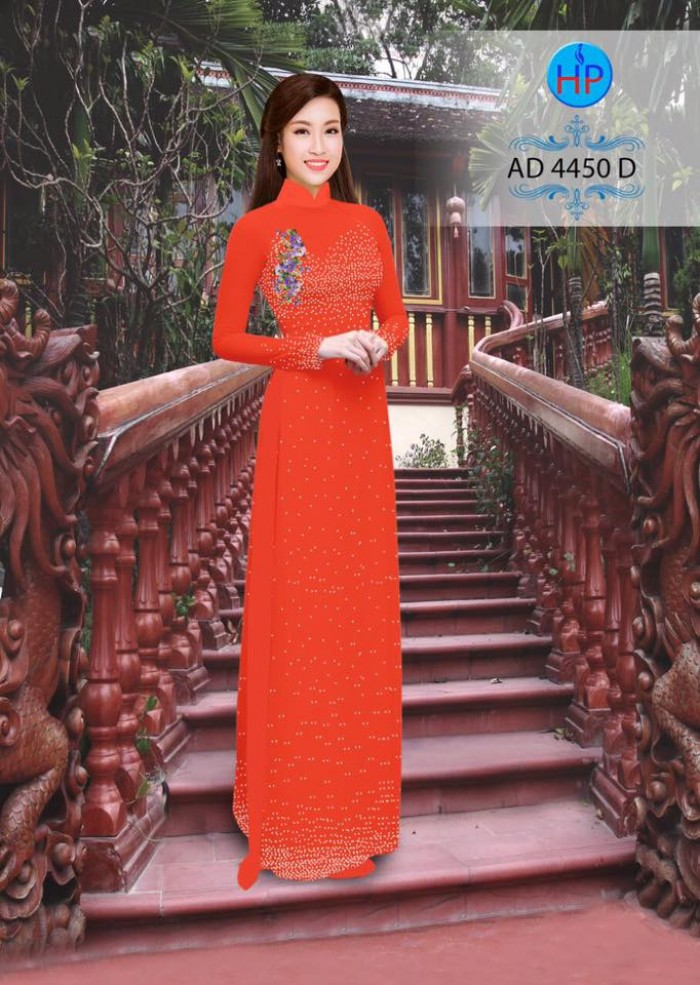 Vải áo dài bi xinh AD44506