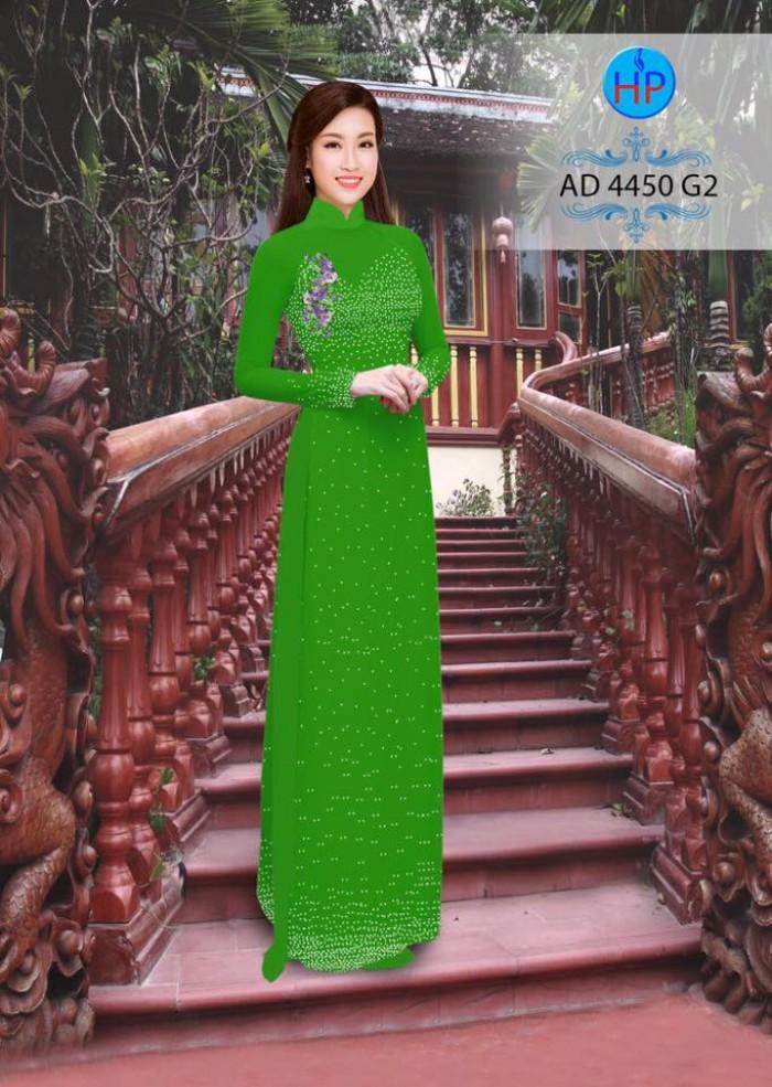Vải áo dài bi xinh AD44507