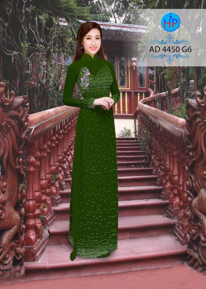 Vải áo dài bi xinh AD44509