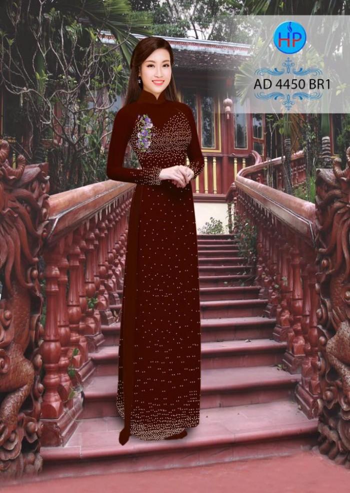 Vải áo dài bi xinh AD445010
