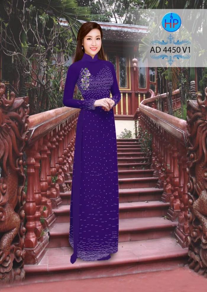 Vải áo dài bi xinh AD445011