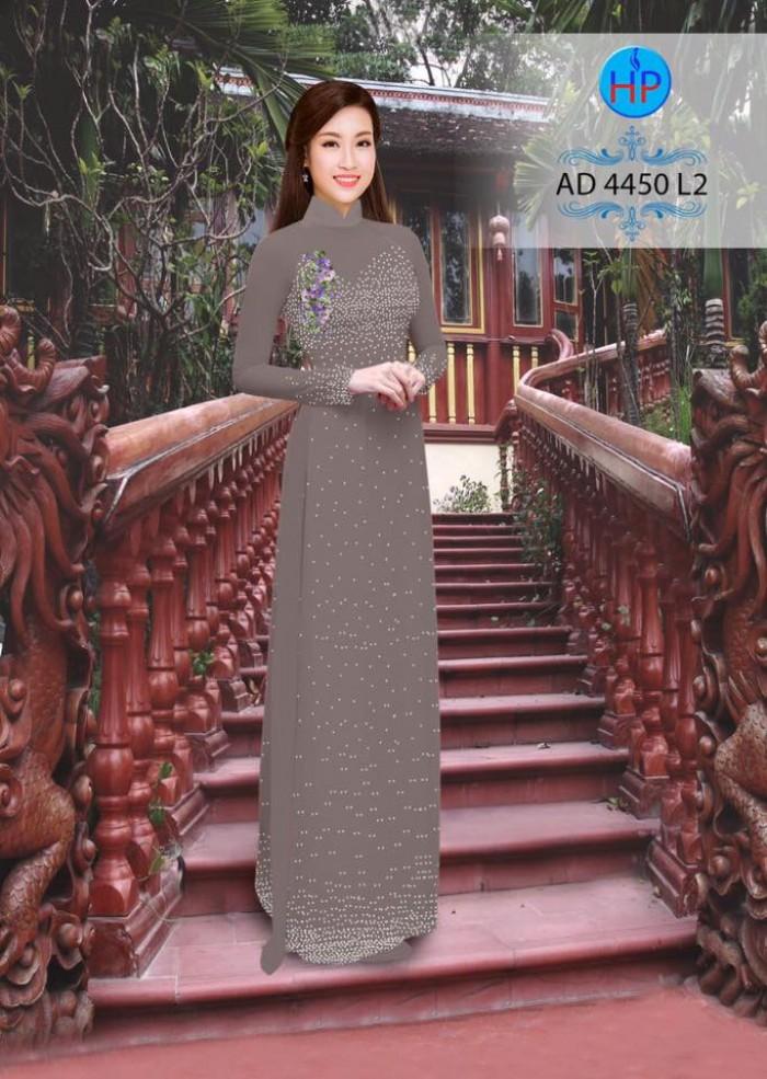 Vải áo dài bi xinh AD445012