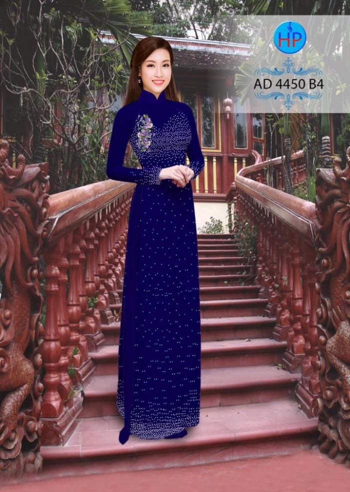 Vải áo dài bi xinh AD445014