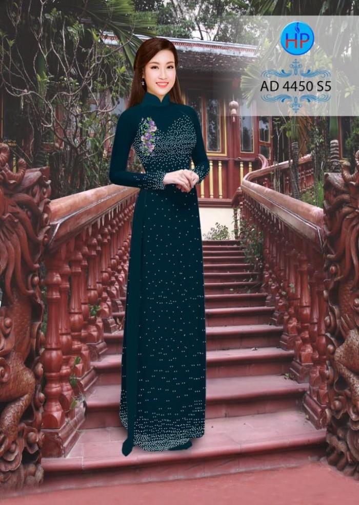 Vải áo dài bi xinh AD445015