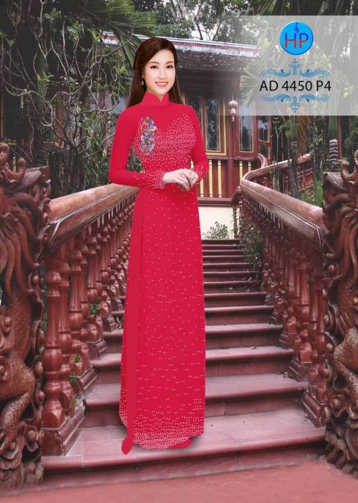 Vải áo dài bi xinh AD445016