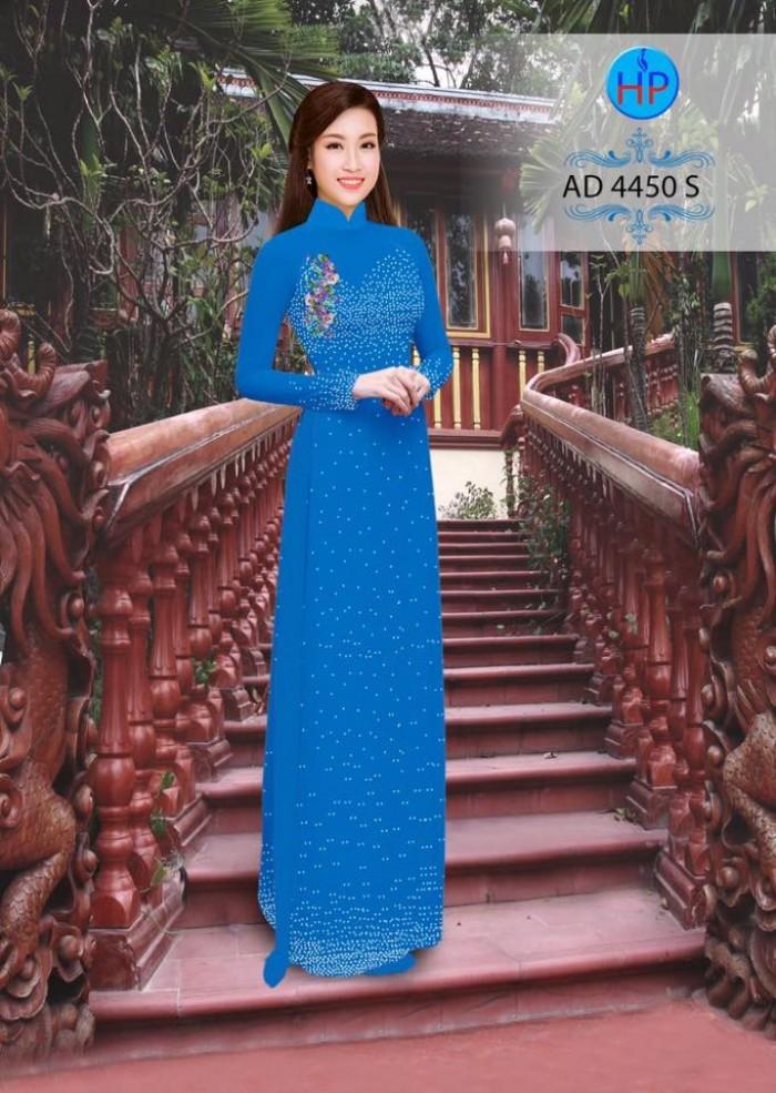 Vải áo dài bi xinh AD445017