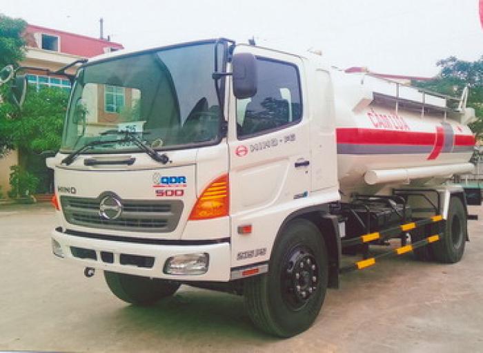 Xe tec vận chuyển xăng dầu Hino FG 11 khối.