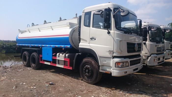 Xe Bồn chở xăng dầu Dongfeng 3 chân 16 khối.