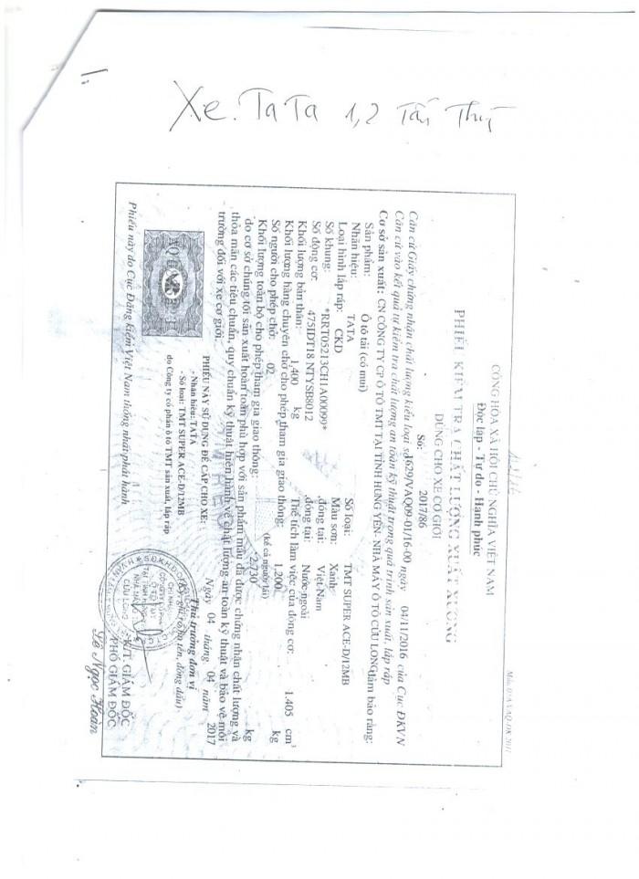 Đại Lý Xe Tải Tata Super Ace Của Ấn Độ Tại Hải Phòng, Thùng Mui Bạt, 1.2 Tấn 17