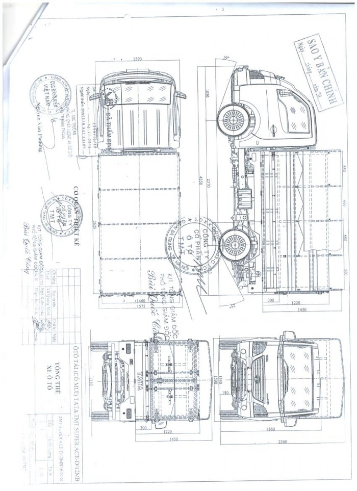 Đại Lý Xe Tải Tata Super Ace Của Ấn Độ Tại Hải Phòng, Thùng Mui Bạt, 1.2 Tấn 19