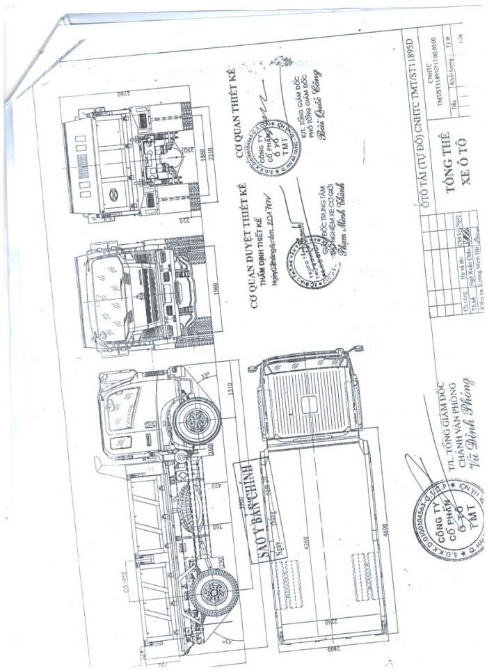 Xe ben Cửu Long TMT tại Hải Phòng, 9.5 tấn, máy Sinotruck 5