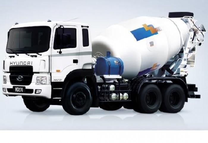 Bán trả góp Xe trộn bê tông Hyundai HD270-7 Khối nhập khẩu 2016. Giá rẻ nhất
