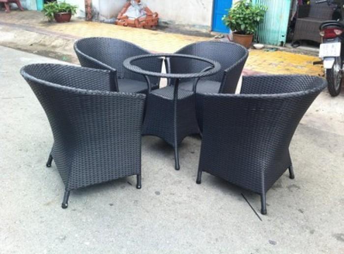 Cần thanh lý ghế cafe, sofa, kiểu sang trọng chất liệu nhựa giả mây dùng cho quán cafe5