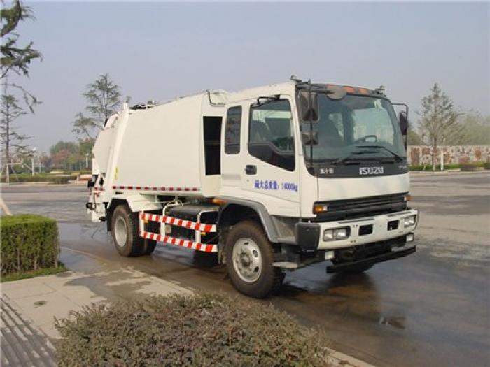 Xe cuốn ép rác ISUZU 14 khối. nhập khẩu nguyên chiếc tiêu chuẩn khí thải EURO IV 0