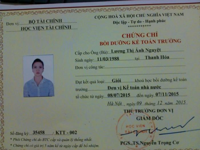 Học lớp kế toán trưởng tại Thái Nguyên.
