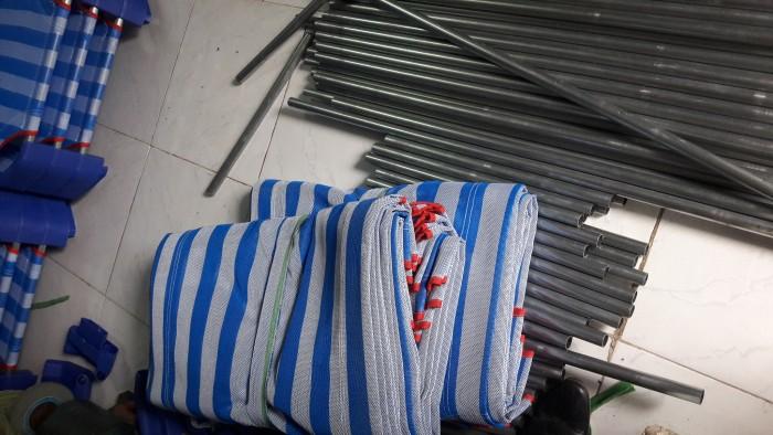 Giường lưới nhập khẩu , chân nhựa màu xanh đậm, khung kẽm D21 dày , ở giữa có 2 thanh tăng cường Inox3