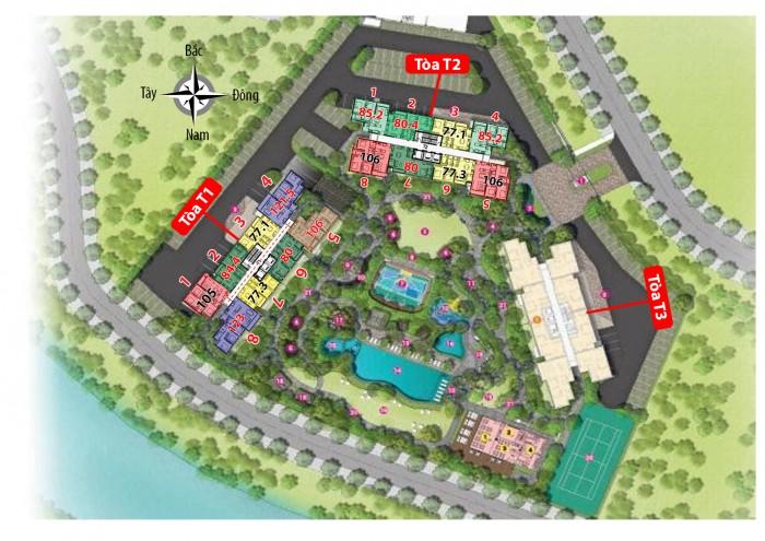 Bán căn hộ PALM HEIGHTS An Phú Q2, T3-21.05. DT 80m2, Giá 3.1 tỷ ( có VAT +PBT ) nội thất đầy đủ