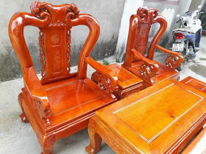 Bộ bàn ghế sồi nga tay 10 Đổ Gỗ Mạnh Tráng miễn phí giao hàng trong bán kính 30km3