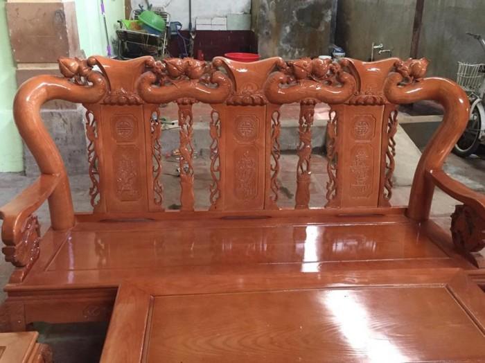 Bộ bàn ghế sồi nga tay 10 Đổ Gỗ Mạnh Tráng miễn phí giao hàng trong bán kính 30km5