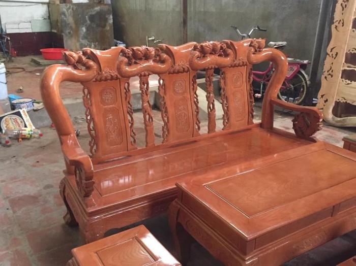 Bộ bàn ghế sồi nga tay 10 Đổ Gỗ Mạnh Tráng miễn phí giao hàng trong bán kính 30km4