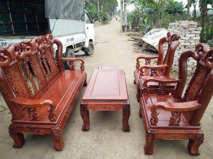 Bộ bàn ghế minh quốc đào tay 10 gỗ hương vaan