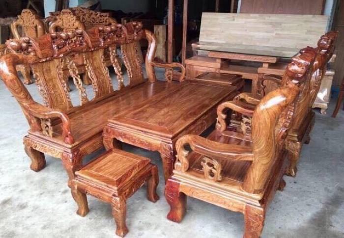 Bộ minh quốc đào tay 12 gỗ hương vân