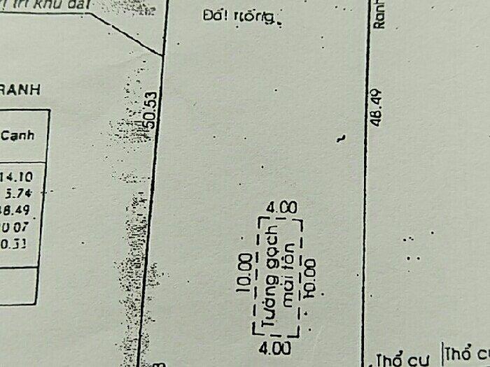 Bán đất MT 1000m2, xã Tân Hiệp, Hóc Môn