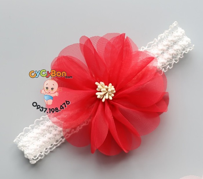 Băng Đô Cho Bé Bông Voan Nhụy Vải
