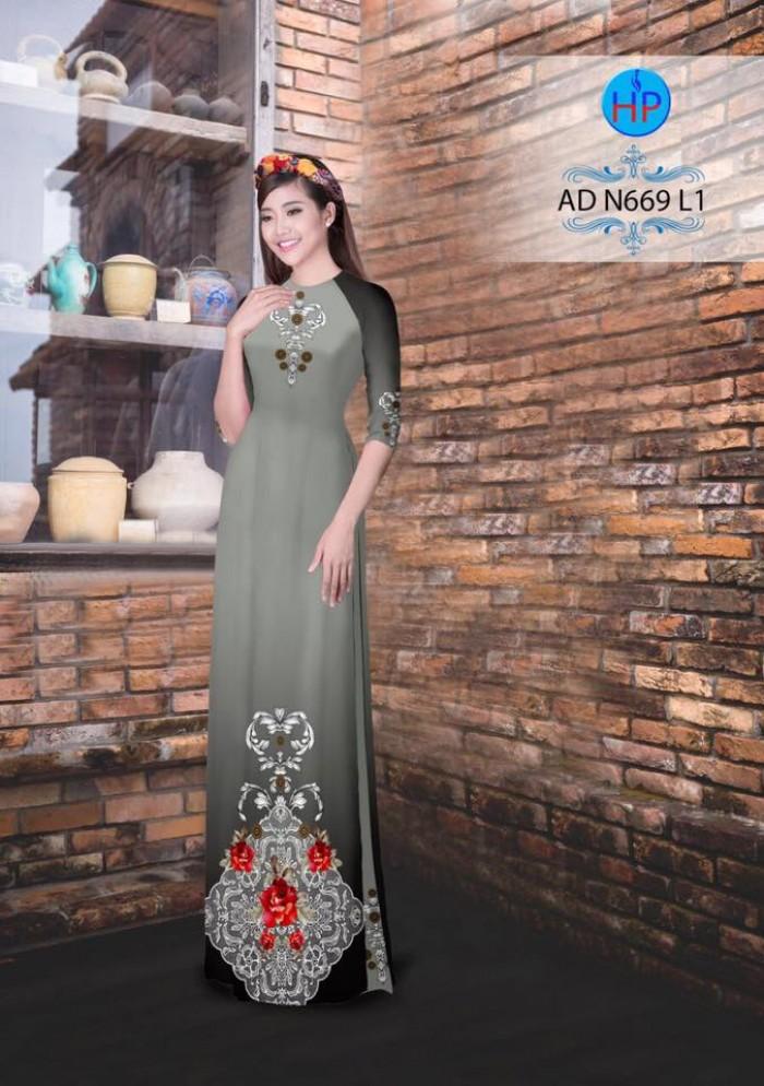 Vải áo dài AD N6692