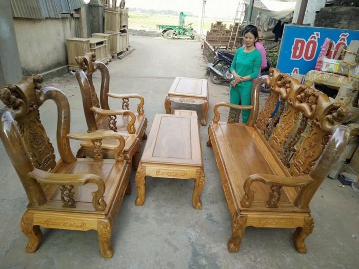 Bộ bàn ghế minh đào gỗ lim tay 10 Đồ gỗ Nội Thất Mạnh Tráng Hàng làm tại xưởng không qua trung gian