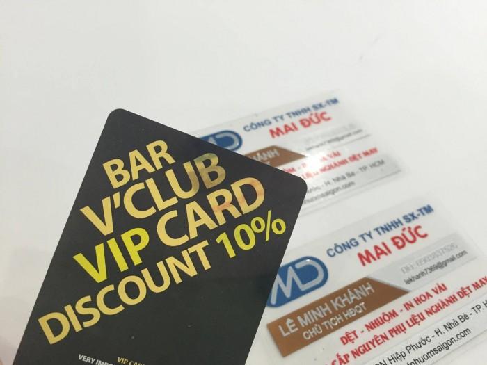 Nhận thiết kế và trực tiếp in ấn name card nhựa PVC giá rẻ tại TPHCM