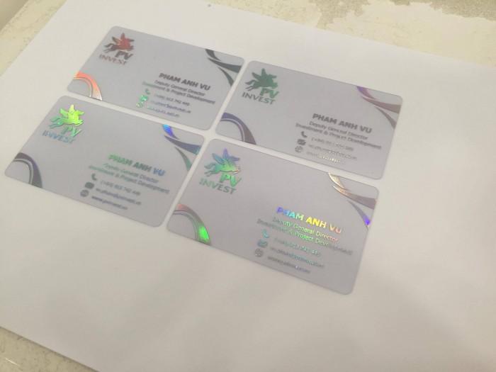 In name card nhựa giá rẻ lấy liền trong ngày