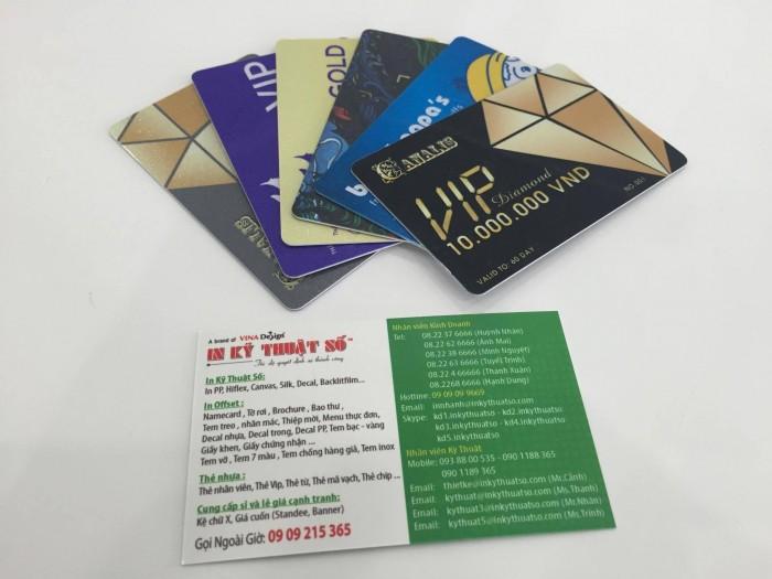 Đa dạng các loại hình thẻ nhựa được thực hiện bởi In Kỹ Thuật Số