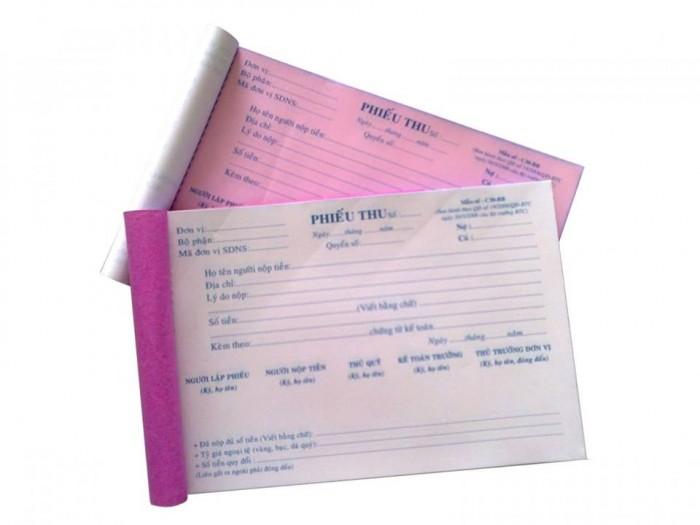 Chuyên in ấn và cung cấp phiếu thu – chi