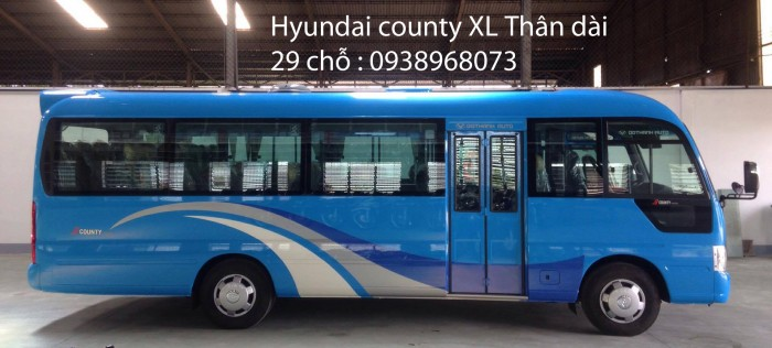 Xe khách 29 chỗ - xe 29 chỗ giá rẻ nhất tp -  xe Hyundai County 29 chỗ - Giá xe 29 chỗ