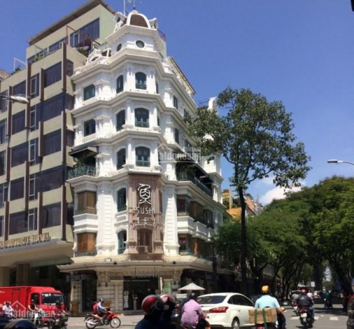 Bán tòa nhà góc 2 mặt tiền Lê Thị Hồng Gấm - Yersin, Quận1, 5Lầu, giá 56.5 tỷ