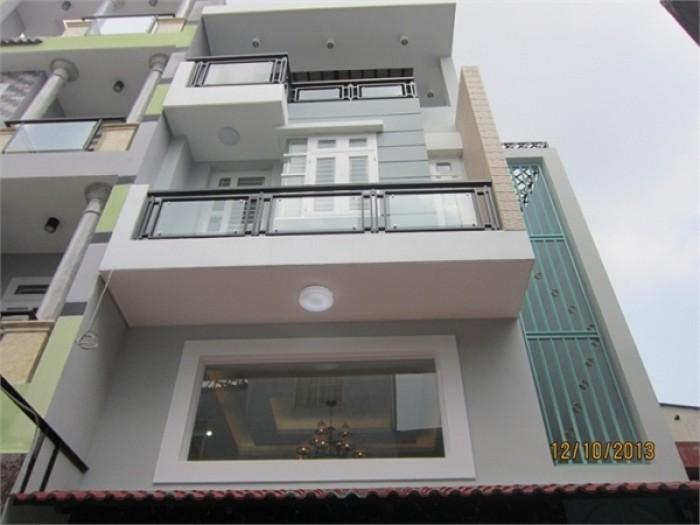 Bán nhà 1 trệt 3 lầu, đường số 47, kdc 586, dt: 5m x 20m, nhà mi , thiết kế đẹp