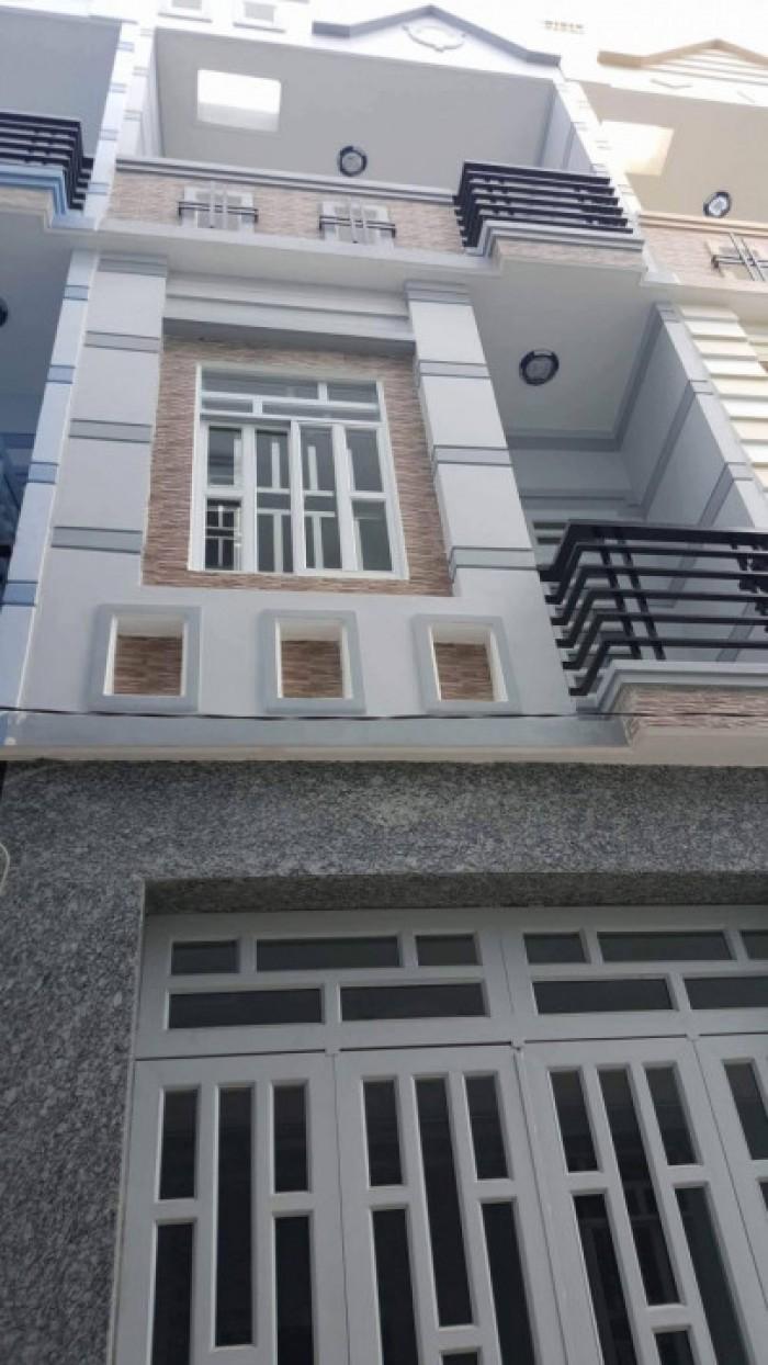 Bán nhà 1 trệt 2 lầu, DT 85m2,Mặt tiền đường gần chợ Xuân Thới Thượng,Giá 1,3 tỷ