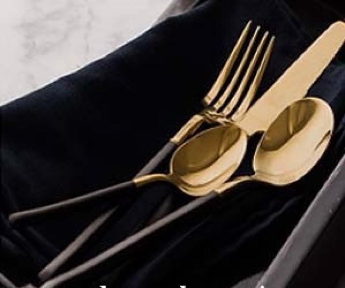 Bộ dao muỗng nĩa inox mạ vàng cao cấp