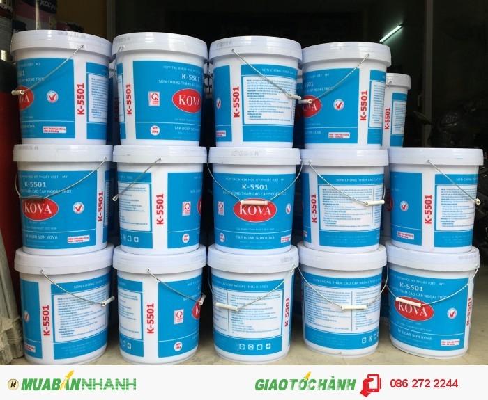 Đại lý bán sơn nước Kova bán bóng K5500,K5501 giá rẻ0