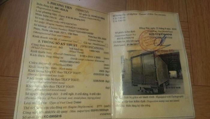 Jac 1.9tấn cũ, thùng dài 4.4m đời 2011 giá rẻ