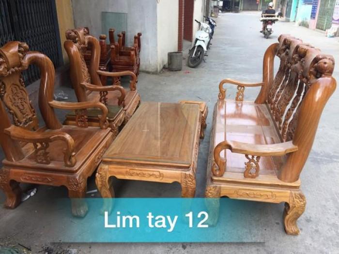 Bộ bàn ghế gỗ lim tay 12