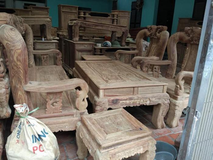 Bộ Bàn ghế gỗ minh quốc đào tay 14 hương vân Đồ Gỗ Mạnh Tráng
