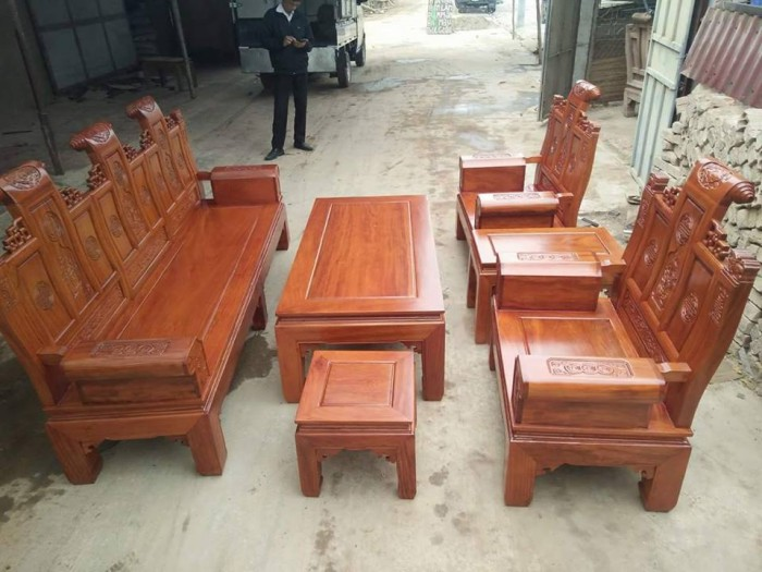 Bộ bàn ghế âu á kiểu cuốn thư tay hộp gỗ lim0