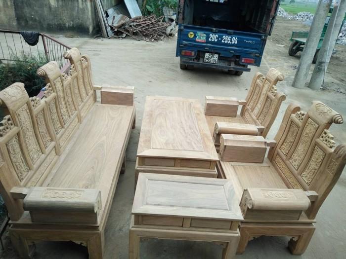 Bộ bàn ghế âu á kiểu cuốn thư tay hộp gỗ lim1