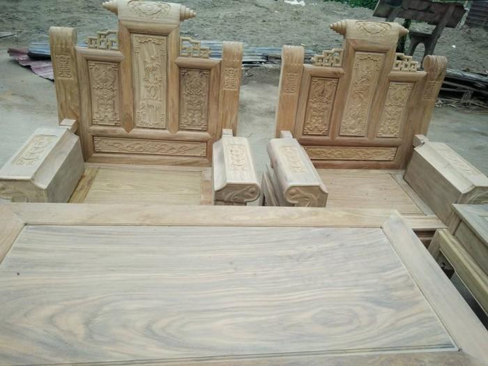 Bộ bàn ghế âu á kiểu cuốn thư tay hộp gỗ lim2