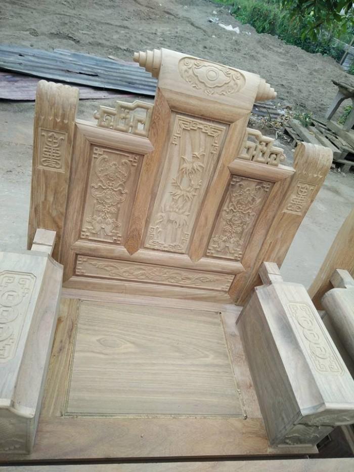 Bộ bàn ghế âu á kiểu cuốn thư tay hộp gỗ lim4