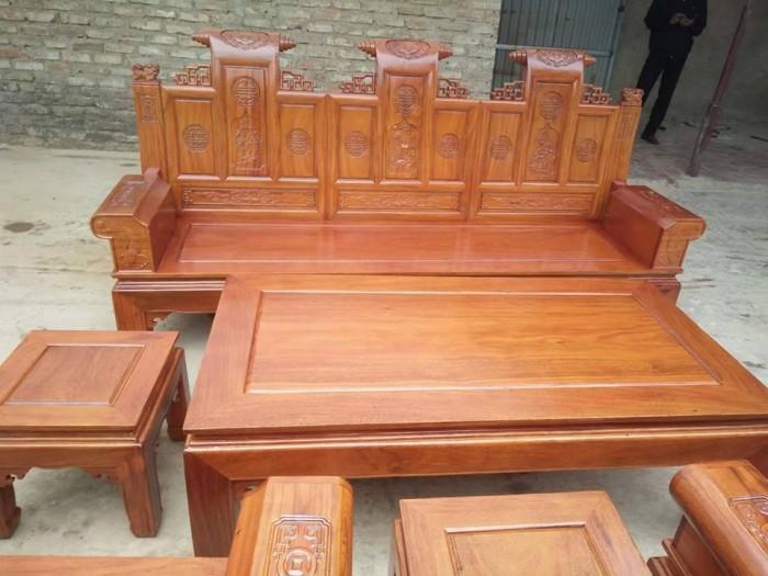 Bộ bàn ghế âu á kiểu cuốn thư tay hộp gỗ lim9
